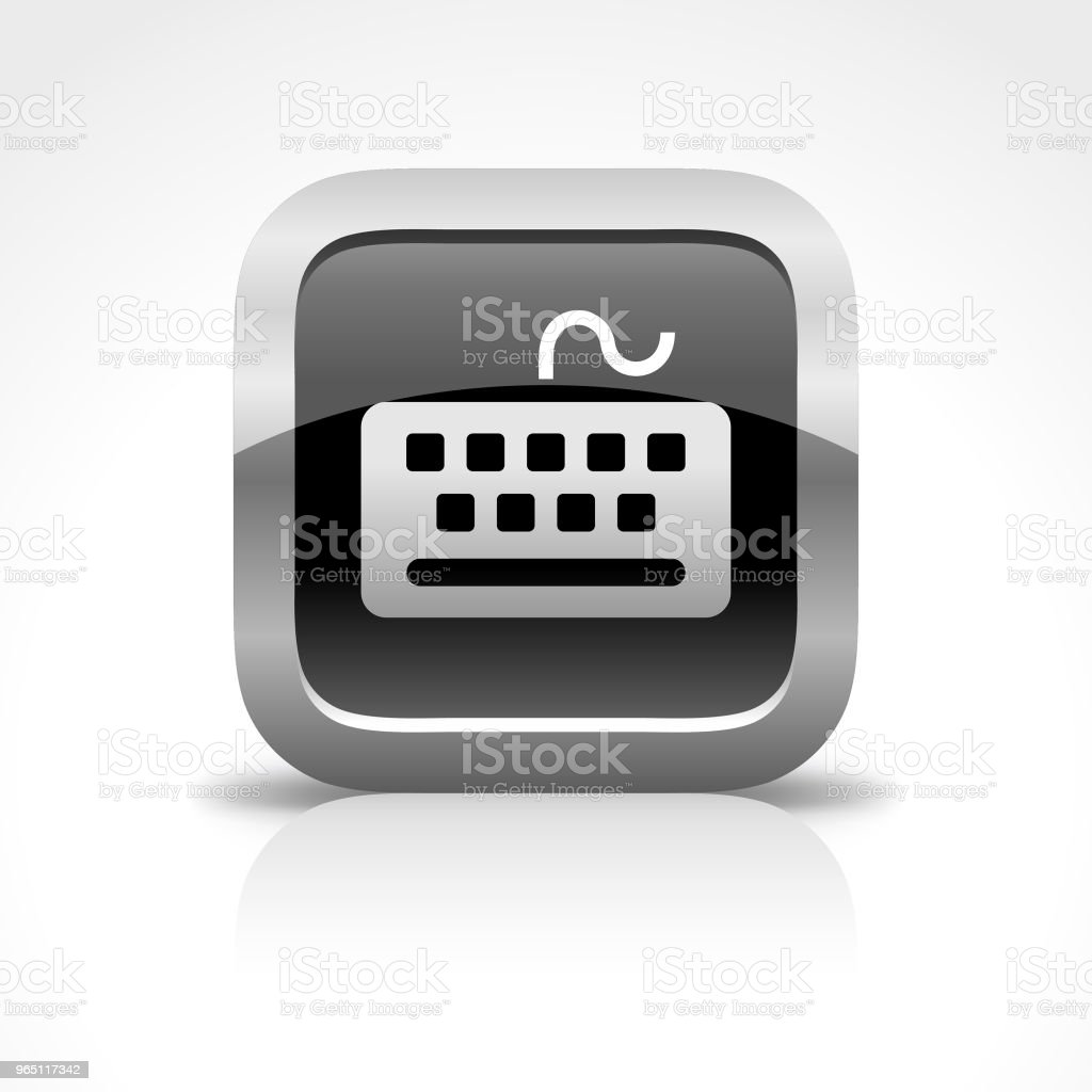 Keyboard Glossy Button Icon royalty-free keyboard glossy button icon stock vector art & more images of black and white