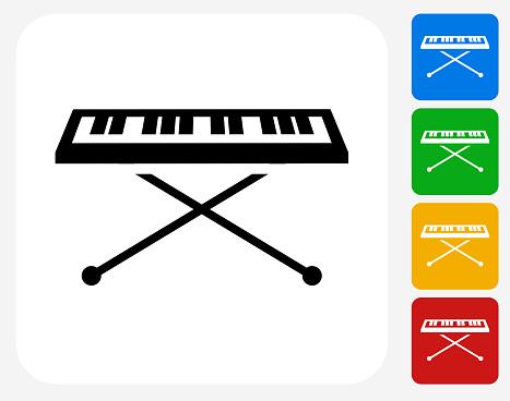Keyboard Icon Flat Graphic Design