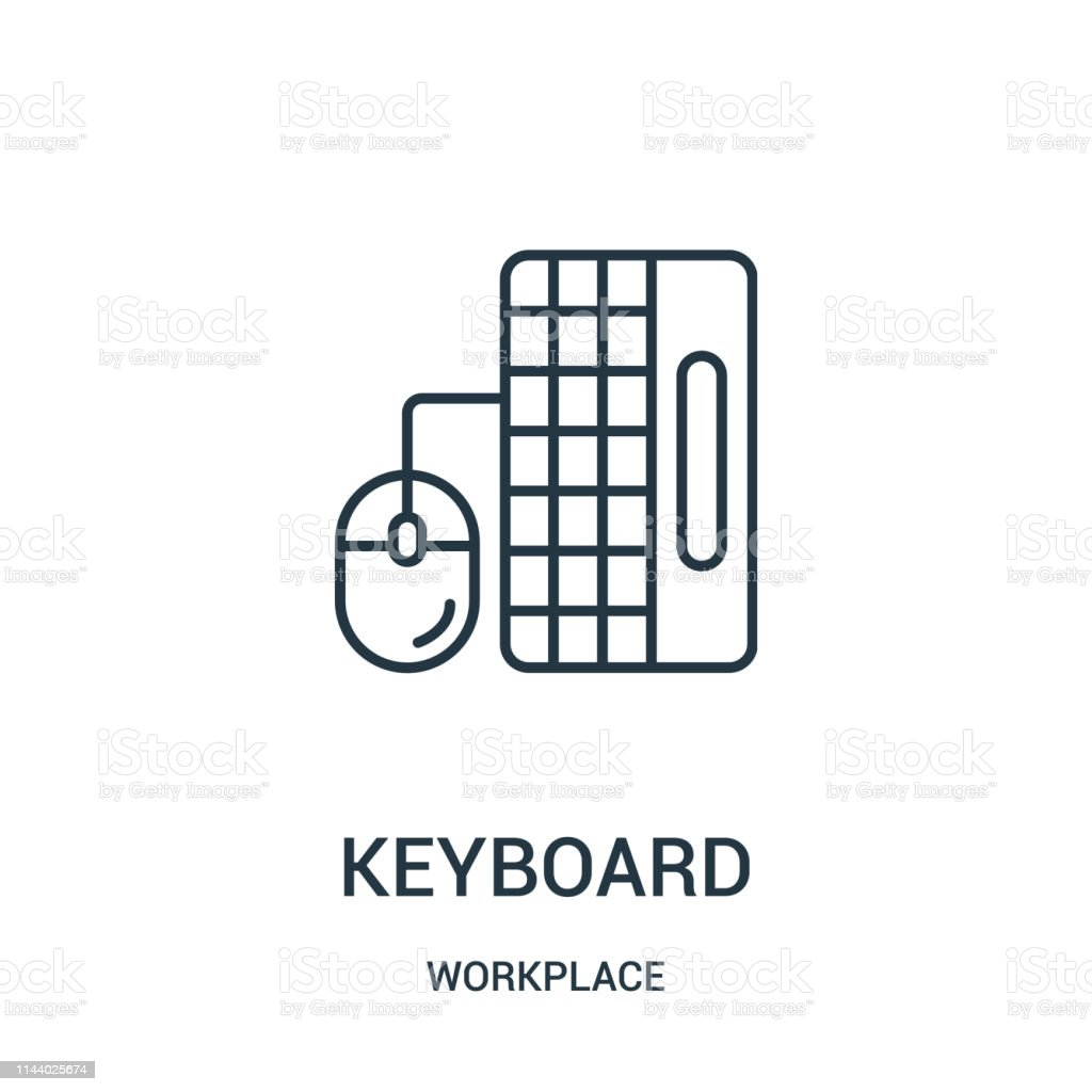 Keyboard Icon Vector From Workplace Collection Thin Line Keyboard