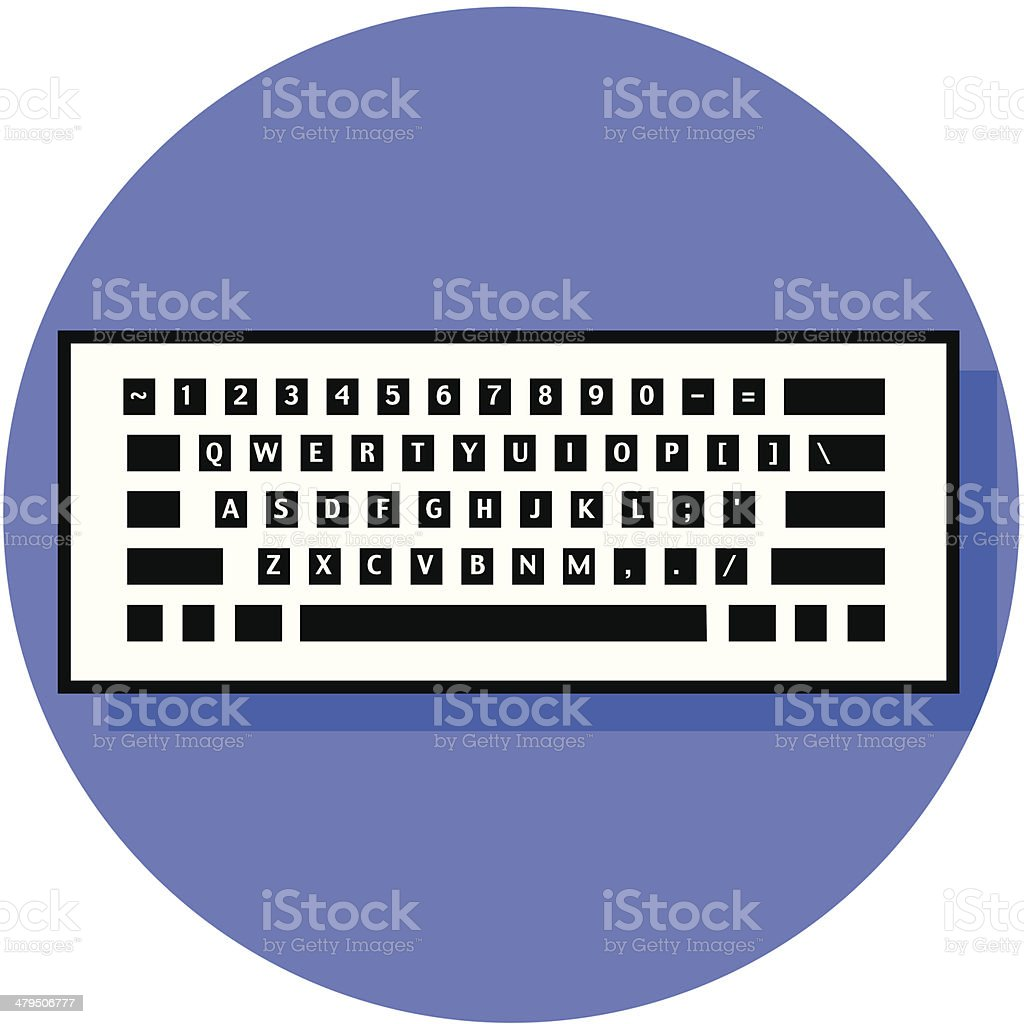 keyboard icon royalty-free stock vector art