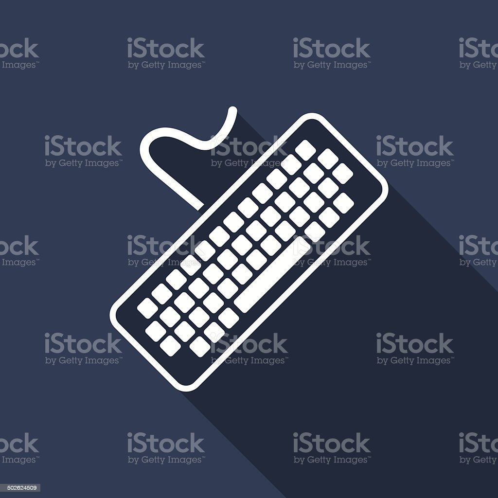 keyboard icon vector art illustration