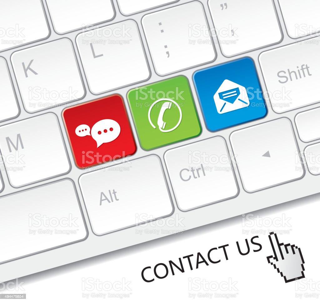 Keyboard of contact vector art illustration