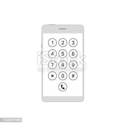 istock Keyboard phone in smartphone 1028297060