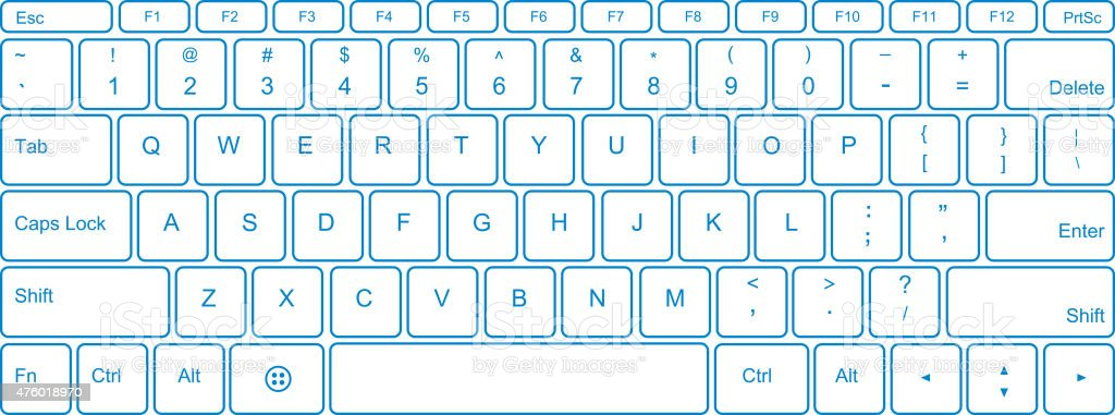 Keyboard vector art illustration