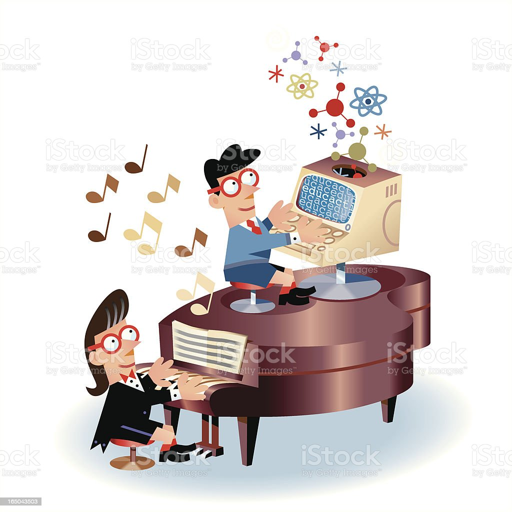 Keyboards royalty-free stock vector art