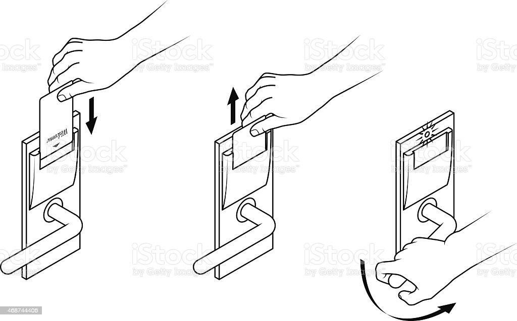 Keycard instructions stock vector art more images of 2015 keycard instructions royalty free keycard instructions stock vector art amp ccuart Image collections