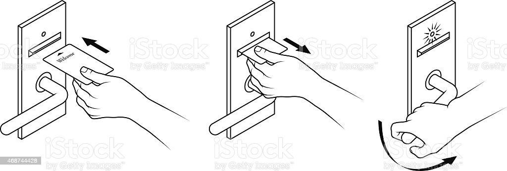 Keycard instructions stock vector art more images of 2015 keycard instructions royalty free keycard instructions stock vector art amp ccuart Images