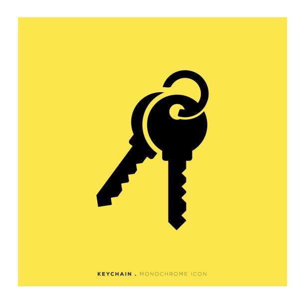 ikona pęku kluczy - klucz stock illustrations