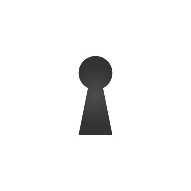 illustrazioni stock, clip art, cartoni animati e icone di tendenza di keyhole icon , hole isolated on a white background, stylish vector illustration for web design. - foro