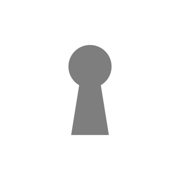Keyhole icon. Simple web black icon, can be used as web element icon Keyhole icon. Simple web black icon, can be used as web element icon on white background keyhole stock illustrations
