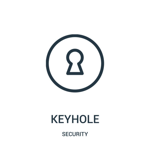 keyhole icon vector from security collection. Thin line keyhole outline icon vector illustration. keyhole icon vector from security collection. Thin line keyhole outline icon vector illustration. Linear symbol for use on web and mobile apps, logo, print media. keyhole stock illustrations