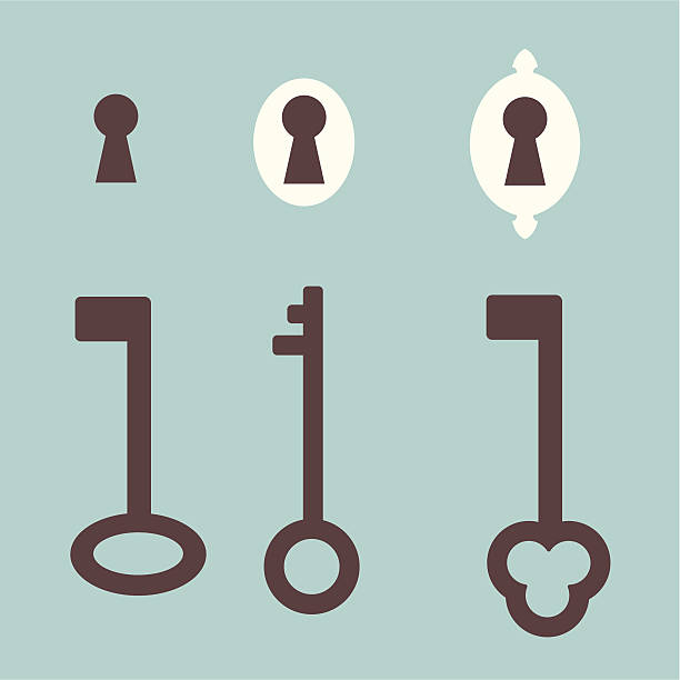 Royalty Free Keyhole Clip Art, Vector Images ...