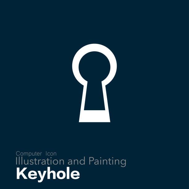 keyhole Illustration and Painting keyhole stock illustrations