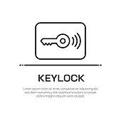 Keylock Vector Line Icon - Simple Thin Line Icon, Premium Quality Design Element