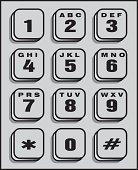 A simple telephone keypad.