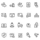 Keys and lock icons