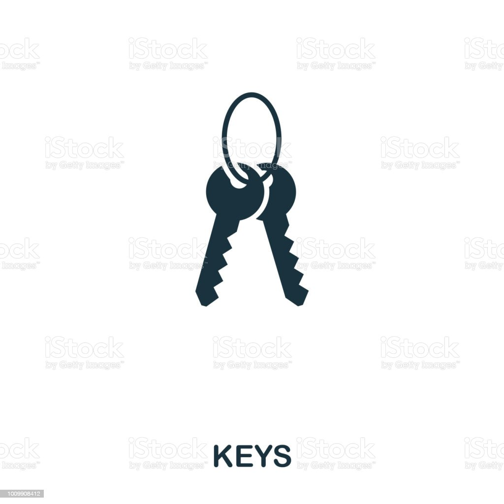 Keys creative icon. Simple element illustration. Keys concept symbol design from real estate collection. Can be used for web, mobile and print. web design, apps, software, print. - illustrazione arte vettoriale