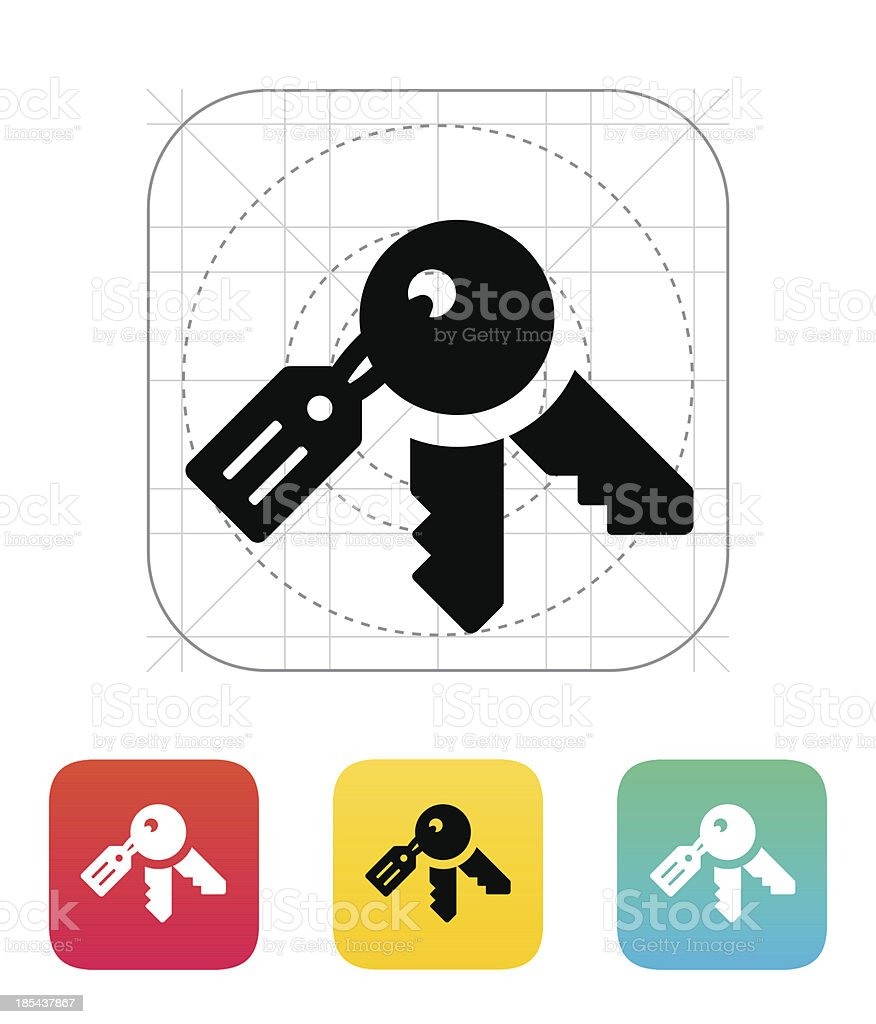 Keys icon. vector art illustration