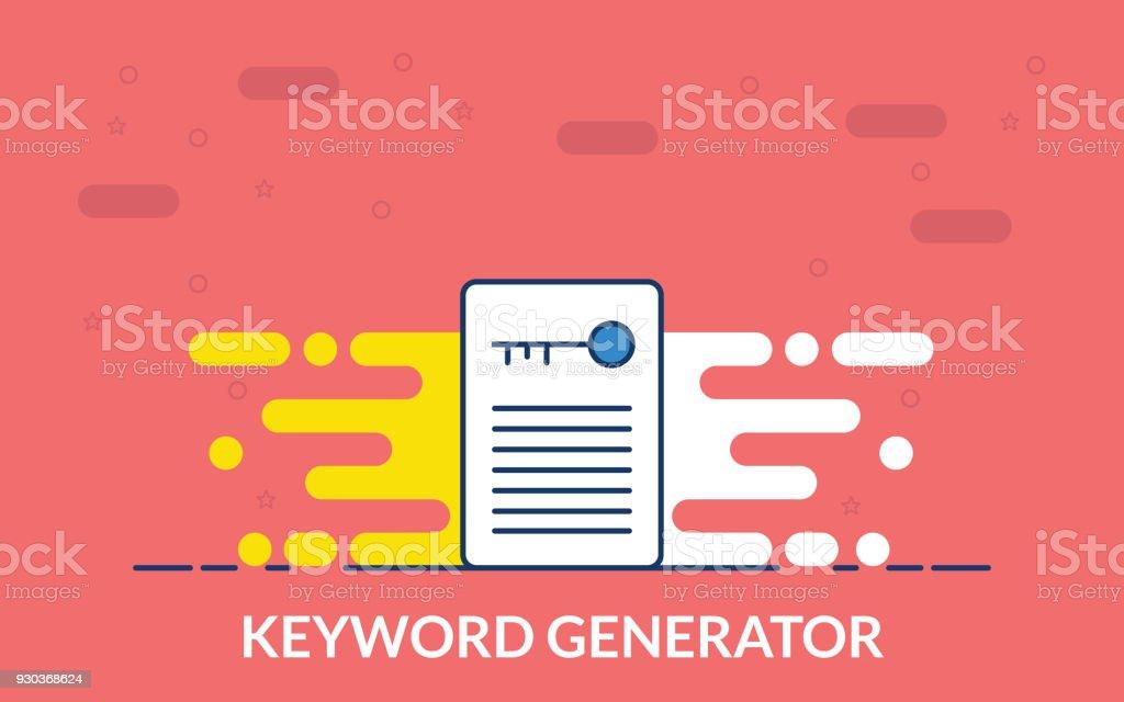 Keywordgeneratorsymbol Stock Vektor Art und mehr Bilder von ...