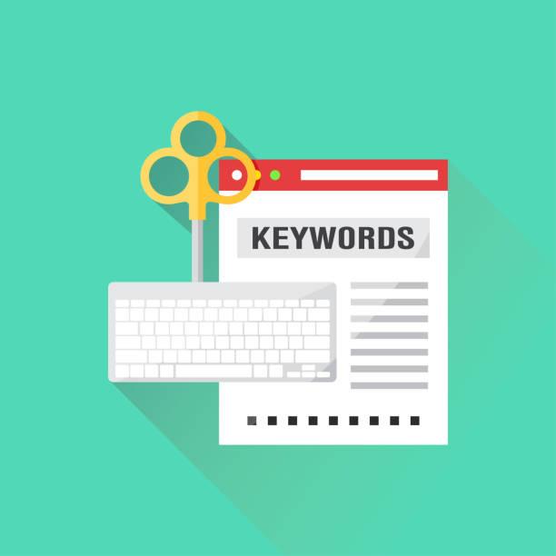 Keywords Flat Icon Keywords Flat Icon dictionary stock illustrations