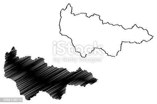 istock Khanty-Mansi Autonomous Okrug map vector 1053128210