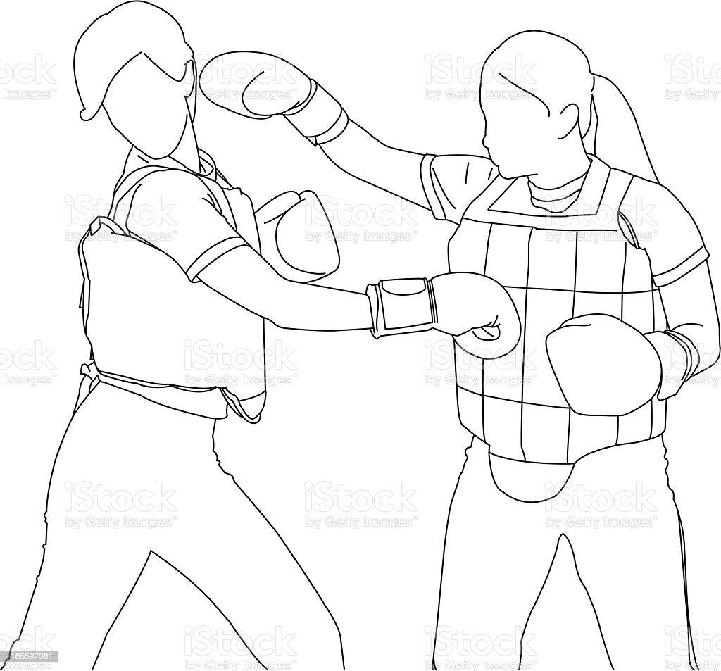 Kick Boxing royalty-free kick boxing stock vector art & more images of adult