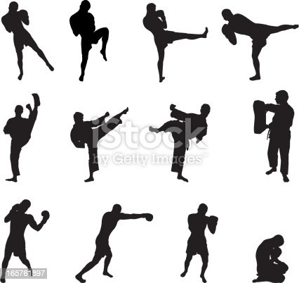 Most applicable positions of different fighters.