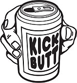 istock Kick Butt Beverage Can 1328179889