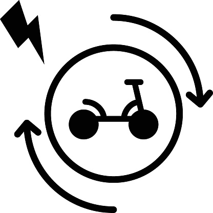 Kick Scooter Charging Concept Vector Glyph Icon Design, Green transport Symbol on white background, eco Motorized scooter Sign, Mobile App ui elements