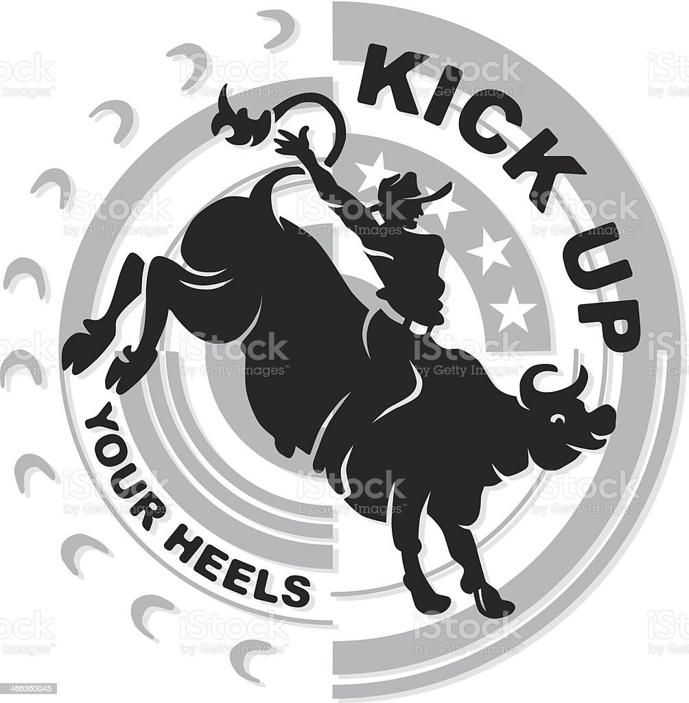 Kick Up Heading vector art illustration