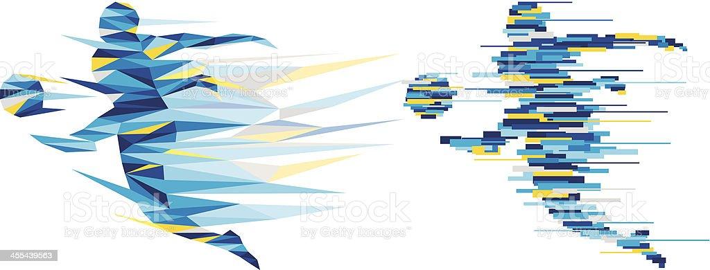 Kickball vector art illustration