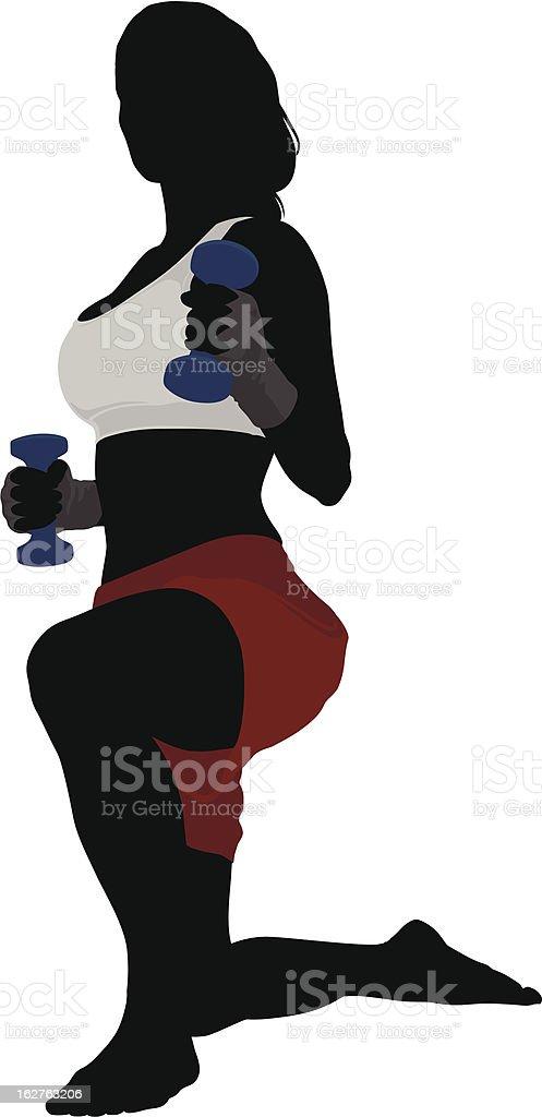 Kickboxing fitness vector art illustration