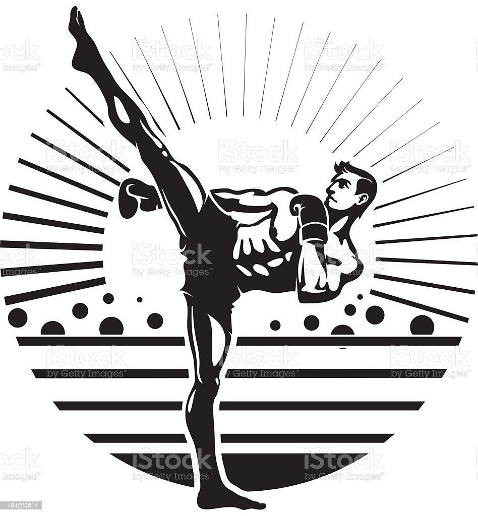 Kickboxing - Royalty-free 2015 vectorkunst
