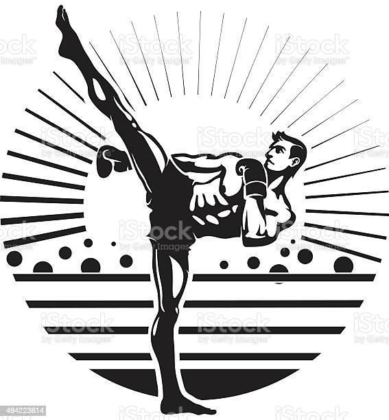 Kickboxing Stockvectorkunst en meer beelden van 2015
