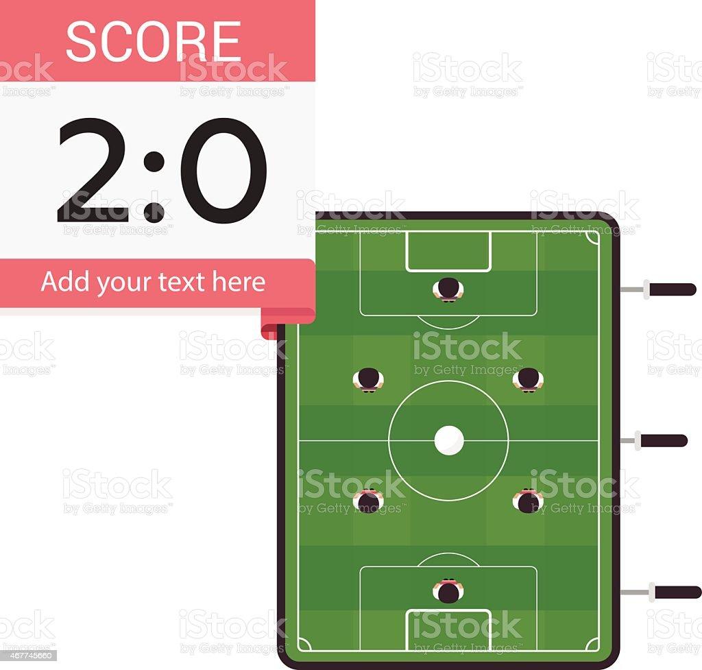 Kicker Table - Illustration vectorielle