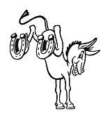Kicking Donkey with Horseshoes