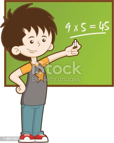 istock Kid at School 118342932
