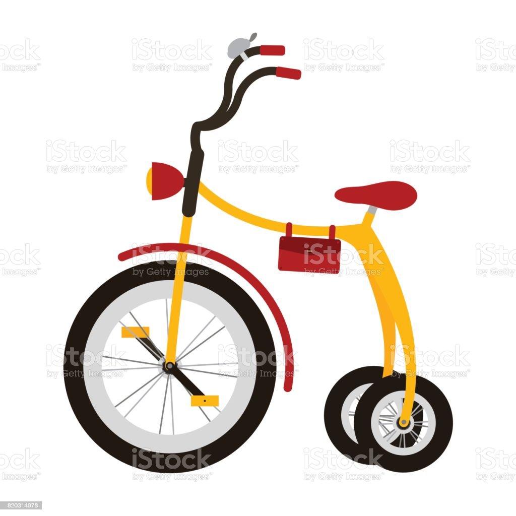 Kid bicycle vector art illustration