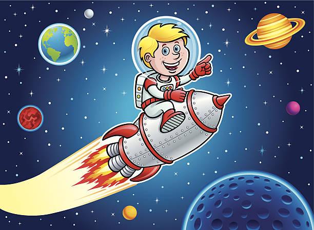 Royalty Free Rocket Boy Clip Art, Vector Images