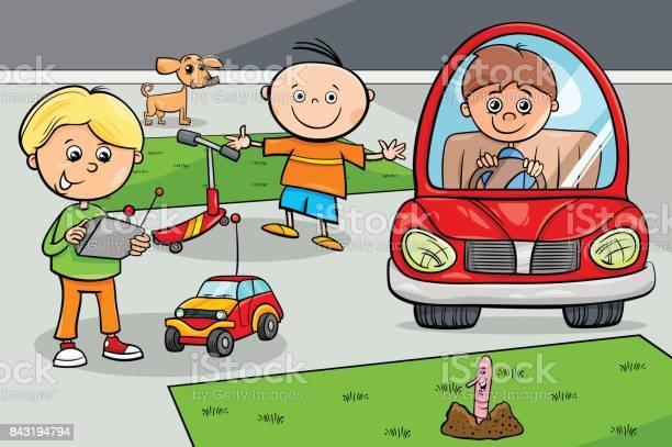 Kid boys children characters with toys vector id843194794?b=1&k=6&m=843194794&s=612x612&h=o8bh88ha cvxgznqtt1vkvarmtizeftniriwwlu2fr4=
