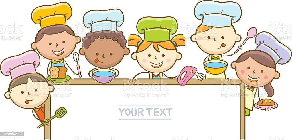 royalty free kids cooking clip art vector images illustrations rh istockphoto com Cooking Clip Art Black and White Cooking Clip Art Black and White