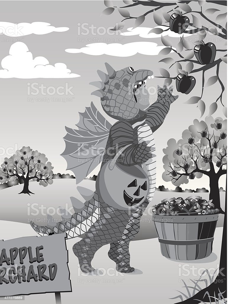 Kid Costume Orchard vector art illustration