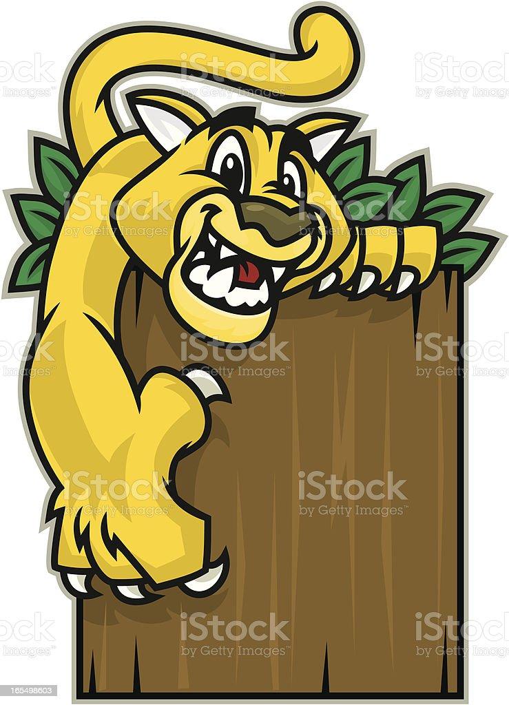 Kid Cougar vector art illustration