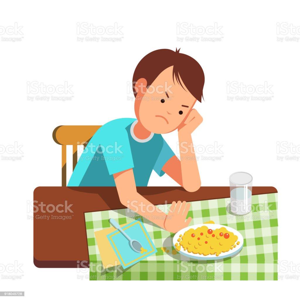 Kind nicht essen möchten – Vektorgrafik