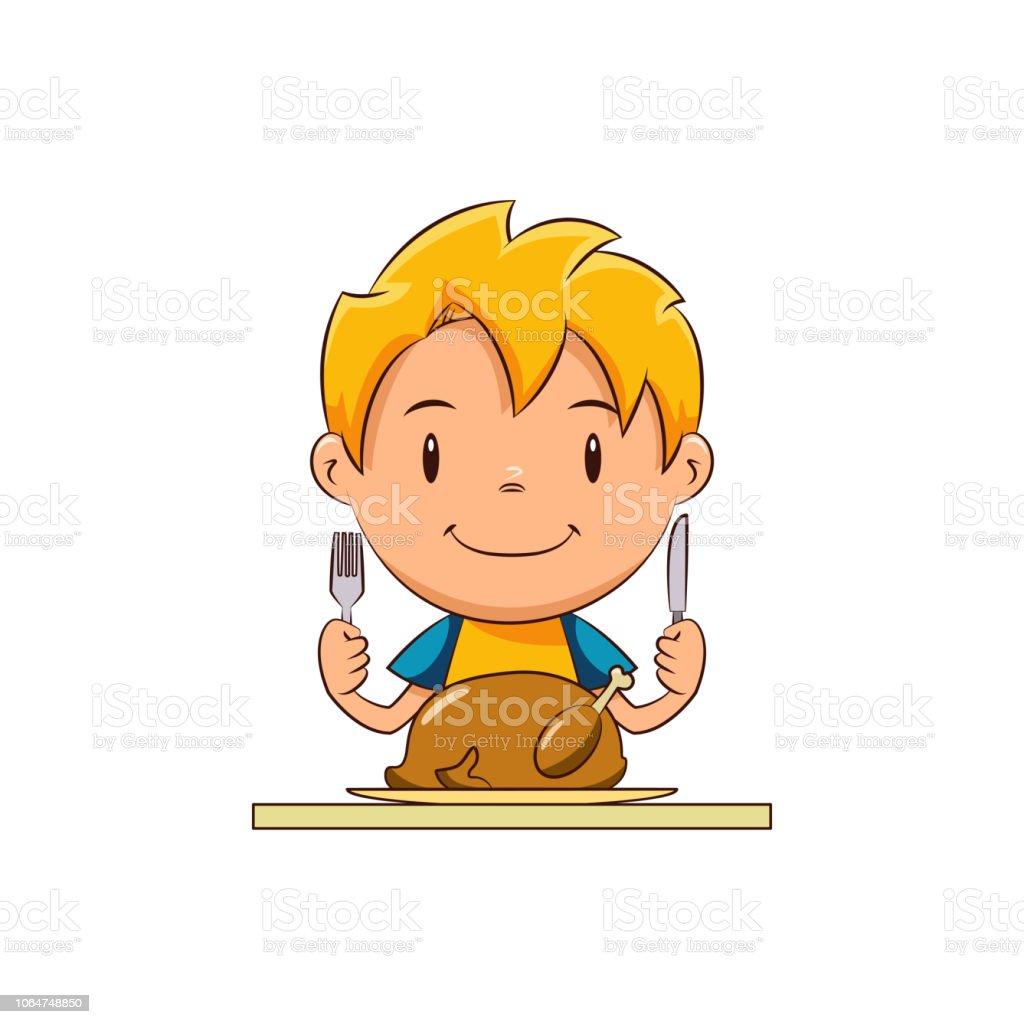 Kinder Essen Türkei Stock Vektor Art Und Mehr Bilder Von Blondes