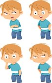 vector kid face expressions