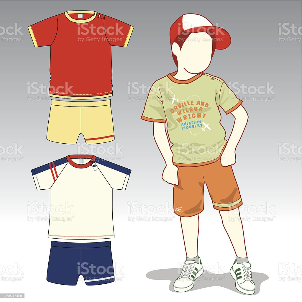 Kid Fashion and Clothing royalty-free stock vector art