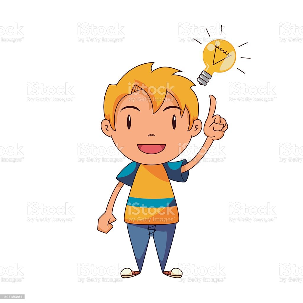 royalty free toddler thinking clip art vector images rh istockphoto com clip art thinking light bulb clipart thinking