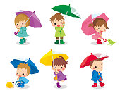 istock Kid holding an umbrella 1245640180
