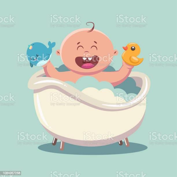 Kid in bath with soap bubbles and foam vector cartoon illustration of vector id1084057258?b=1&k=6&m=1084057258&s=612x612&h=ahn6lo4t8c0hoscvbvbvnqg 4fblefuz6evuwjjbn m=